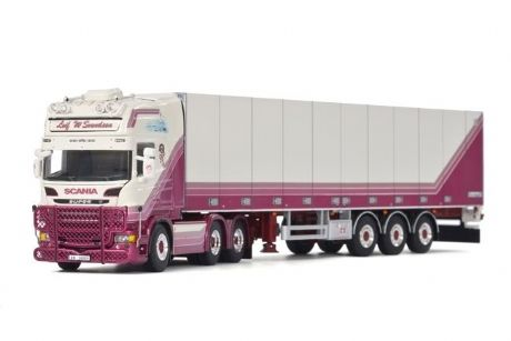 WSI Leif Willy Scania R6 Topline 6X2 Fridge Trailer